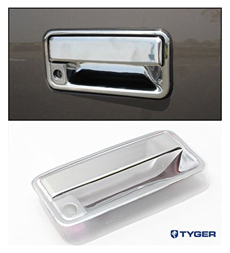 (Tyger ABS Triple Chrome Plated Tail Gate Handle Cover Fits 92-99 Chevy Suburban/Tahoe GMC 88-98 C/K Pickup 92-99 Yukon Tailgate with Keyhole )
