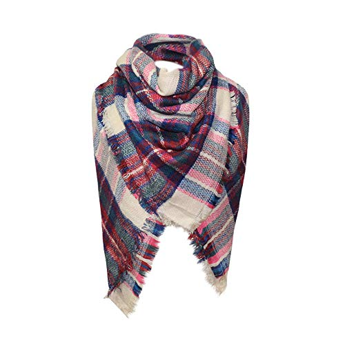 EnjoCho Women Scarf,2018 Winter Women's Scarf Cashmere Scarf Female Plaid Scarves Triangle Blanket Shawls and Scarves (B)