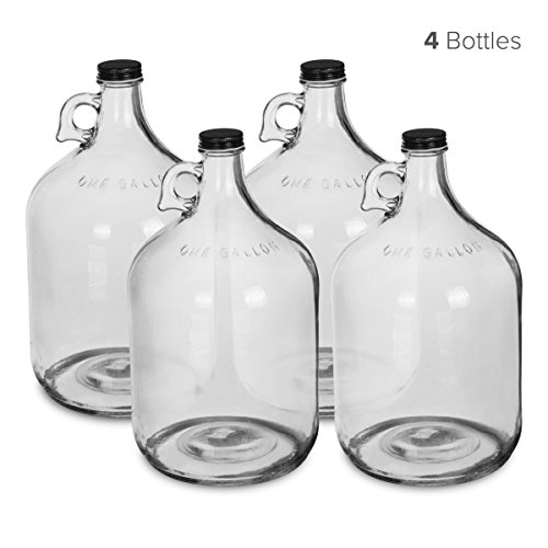1 Gallon Glass Water Bottle Jug with 38 mm Screw Cap (4)