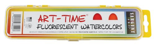 Sargent Art 66-8222 ArT Time 8-Count Fluorescent Watercolor Pan Set with...