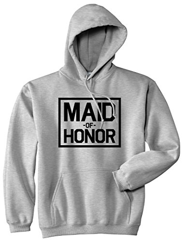 Maid Of Honor Wedding Pullover Hoodie Hoody Medium Grey by Kings Of NY