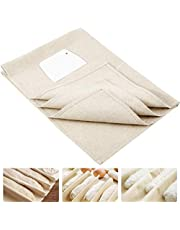 Large Professional Bakers Dough Couche (35'' × 24'')- 100% Natural Flax Heavy Duty Linen Pastry Proofing Cloth for Baking French Bread Baguettes Loafs