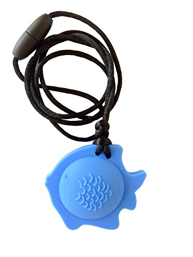 chubuddy Chewable Fish Pendant Chewie, Non-Toxic Material-Sky Blue