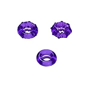 Keliay Couple Lover Sexy Play Games Ring Men Soft Silicone Time Delay Ring