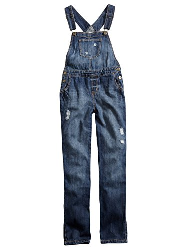 GUESS Kids Big Girl Ace High Wash Overalls (7-16)
