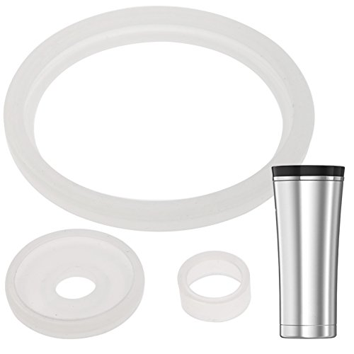 2 Sets of Thermos Sipp (TM) -Compatible 16 Ounce Travel Tumbler/Mug Gaskets/Seals by Impresa Products - BPA-/Phthalate-/Latex-Free - 2 Full Replacements Per Kit ()