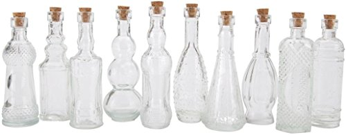 Double Bud Vase - Darice 20140C Glass Bottle Assorted, 5 Inch, Set of 70