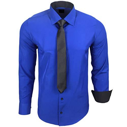 Ajustée Chemise Coupe Avec Sax Neal R kr Mariage Pour Homme Cravate Contrastée 44 Idéal Loisirs Affaires Rusty FwZWIxSqI