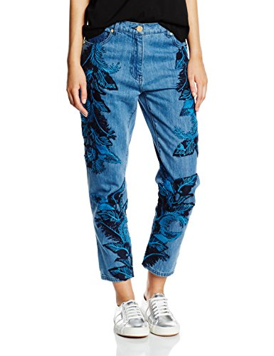 House of Holland Denim Lace Overlay Skinny, Jeans para Mujer Azul (Blue)