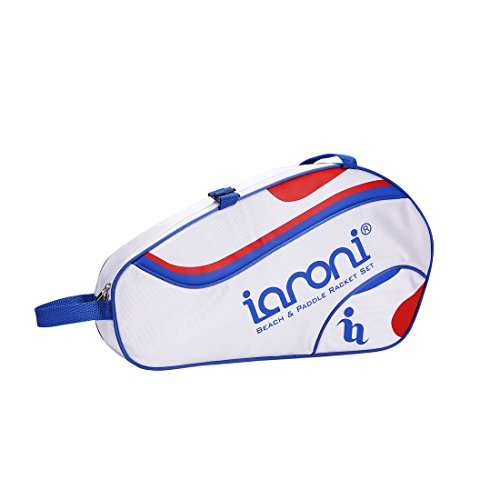 ianoni Beach Tennis Carrying Bag Professional Tennis Bag Holds 2-3 Paddles Plus 4 Balls,Advanced Nylon Oxford,Stylish Design,for Beach Tennis Games,Carried by Man,Woman