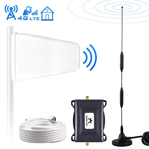 Verizon Cell Phone Signal Booster Amplifier For Home 4G LTE Cell Signal Booster Verizon Mobile Phone Signal Booster Repeater 700Mhz FDD Band13, Boosts 4G LTE Data&Voice, Covers 2000 sq ft-Sucker+LPDA (Amplifiers For Home)