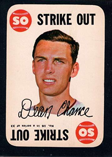 Baseball MLB 1968 Topps Game #16 Dean Chance - Topps 1968 Game