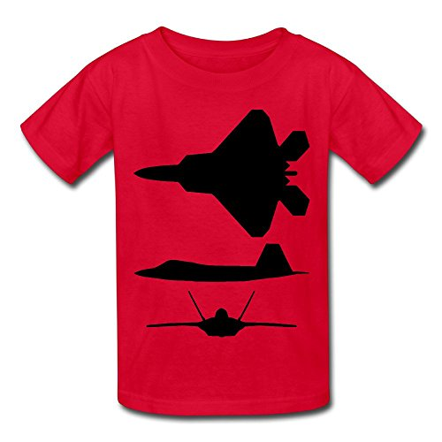 F 22 Raptor Youth's T Shirt Red]()
