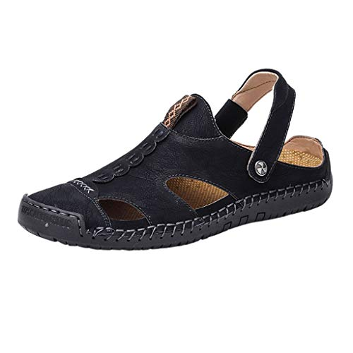 AopnHQ Outdoor Beach Sandals Mens Cloth Casual Flats Shoes Round Toes Sport Hiking Slippers Flip Flop Summer - Of Clothes Outsiders Band