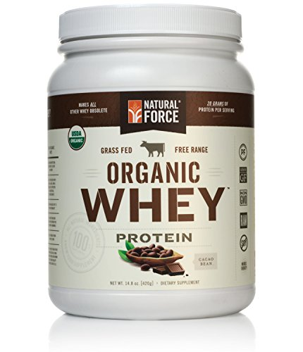 Natural Force Organic Whey Protein Powder Grass Fed Whey - Undenatured Whey Protein