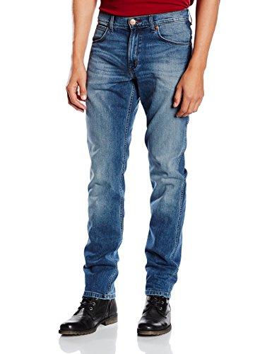 Wrangler Greensboro Straight Leg, Vaqueros para Hombre Azul (What Blue)