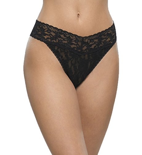 Hanky Panky Signature Lace Original Rise Thong Panty Black O/S