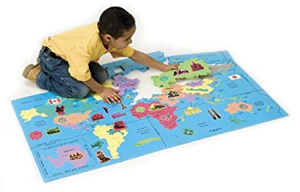 Amazon.com: WonderFoam World Map Puzzle: Toys & Games