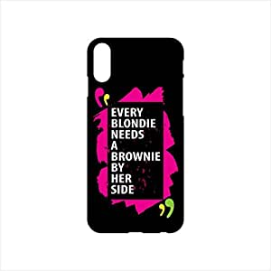 Fmstyles - iPhone X Mobile Case - Every blondie needs a brownie