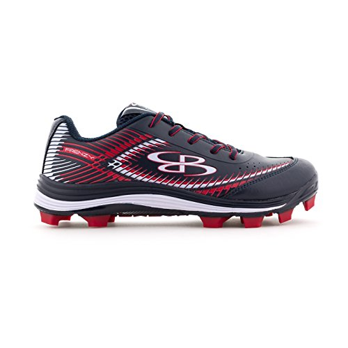 Boombah Women's Frenzy Molded Cleats Navy/Red - Size 10.5