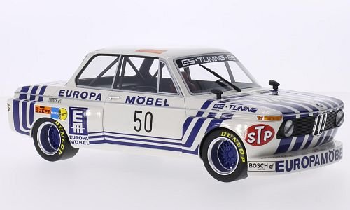BMW 2002 Gr.2, No.50, GS Tuning, Europe furniture, GRC, 1974, Model Car, Ready-made, BoS-Models 1:18