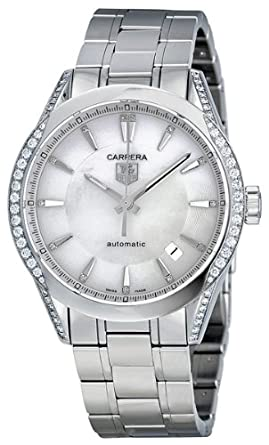 64337568460d Image Unavailable. Image not available for. Color  Tag Heuer Carrera Mother  of Pearl Dial Diamond Stainless Steel Automatic Ladies Watch WV2212BA0798