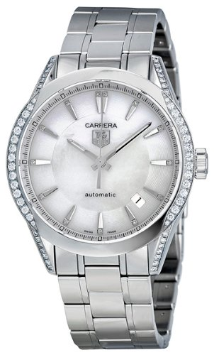 6cc364b510ef7 Tag Heuer Carrera Mother of Pearl Dial Diamond Stainless Steel Automatic Ladies  Watch WV2212BA0798  Amazon.ca  Watches