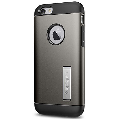 Spigen Slim Armor iPhone 6S Case with Kickstand and Air Cushion Technology Hybrid Drop Protection for iPhone 6S / iPhone 6 - Gunmetal