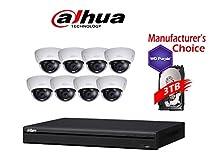 Dahua Branded 16CH Tribrid 720P/1080P DVR Package: HCVR5216 w/2TB HDD + (8) 2MP HDBW12A0EN Vandal-proof IR 2.8MM Dome