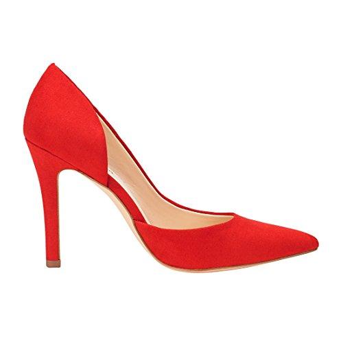 Jenn Ardor Scarpe Con Tacco Alto A Spillo Per Donna: Scarpe Da Sera Classiche Aperte, A Punta Chiusa, Rosse