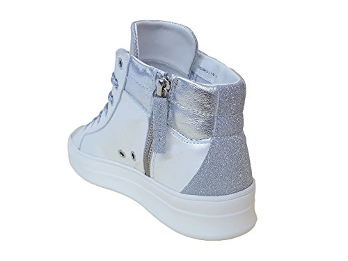 ... CRIME London Damen Sneaker Weiß Bianco Perlato ... a7838a56fa