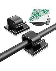 Pack van 50 kabelhouders zelfhechtende kabelclips kabelclips hoge viscositeit kabelclips bureau organizer kabelbeheer kabelgids voor opladen kabel muur bureau (zwart)