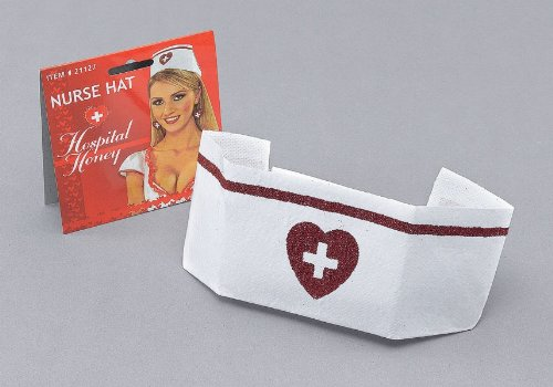 Ladies Nurse Hat With Red Heart -