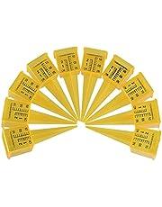 10 st 3,5 cm regnmätare, utomhus vattenmätningsverktyg, regnmätare för trädgården, för trädgårdsgård, gul.
