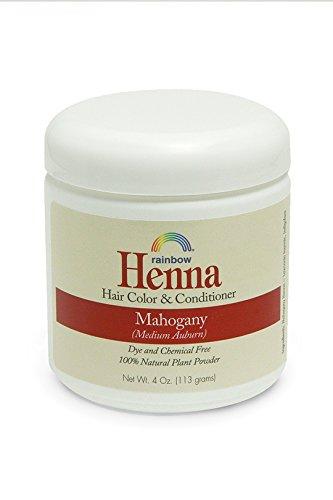 Henna (Persian) - Medium Auburn, Mahogany, 4 oz ( Pack of 2) by Rainbow Research