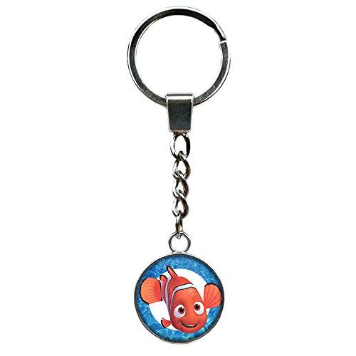 Outlander Brand Finding Nemo Disney Premium Quality Silvertone Keychain Key Ring w/Gift -