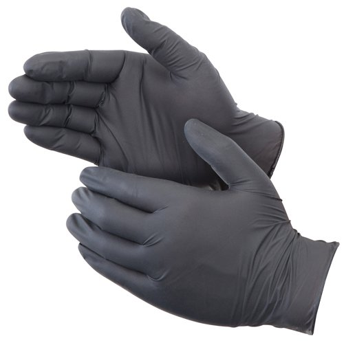 Liberty Glove & Safety 2015W-S DuraSkin BlackShield 4 mil Small Nitrile Powder-Free Disposable Gloves, (Pack of 100)