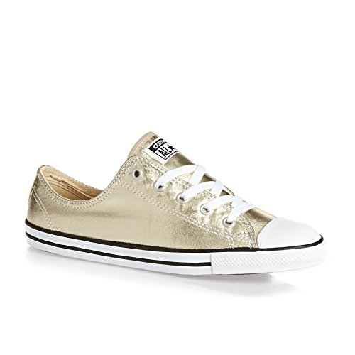 Converse Chuck Taylor All Star Dainty Mint Julep Textile Trainers Light Gold Black White