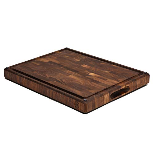 Large End Grain Walnut Cutting Board, Made in the USA