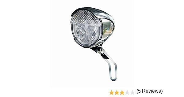 Trelock Faro LED Bike-I Retro Lux Cromo+POS.Auto.: Amazon.es ...
