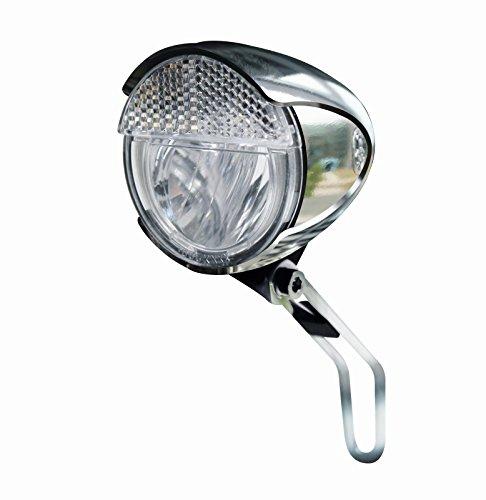 Trelock Beleuchtung LS 583 Bike-i Retro FD S/SL/A Chromoptik Dynamofrontscheinwerfer, 8003279