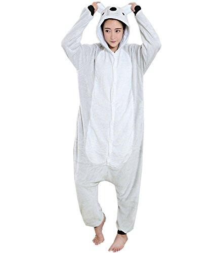 ABING Halloween Pajamas Homewear OnePiece Onesie Cosplay Costumes Kigurumi Animal Outfit Loungewear,Koala Adult L -for Height 167-175CM
