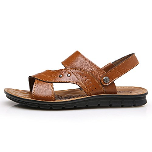 Frühling Das neue Männer Strand Schuh Trend Atmungsaktiv Männer Sandalen Dualer Gebrauch Sandalen Männer Schuh Freizeit Männer Sandalen ,Gelb,US=7,UK=6.5,EU=40,CN=40