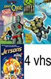 set classic hanna barbera: Jonny Quest:Q Missile Mystery, The Real Adventures of Jonny Quest: Rage's Burning Wheel (1996), Jetsons: The Movie, Huckleberry Hound: Huck of the Irish