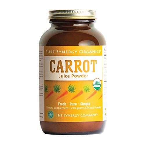 - Pure Synergy USDA Organic Carrot Juice Powder (7.4 oz) USA Grown, Non-GMO