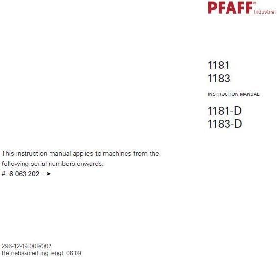 Descargar Pdf-File Pfaff 1245 1246 Manual de usuario máquina de ...