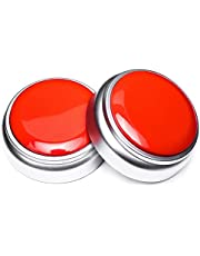 Neutral Sound Talking Button,Record Sound Box Answer Buzzers 30 Seconds Recording Set of 2(Red and Silver)