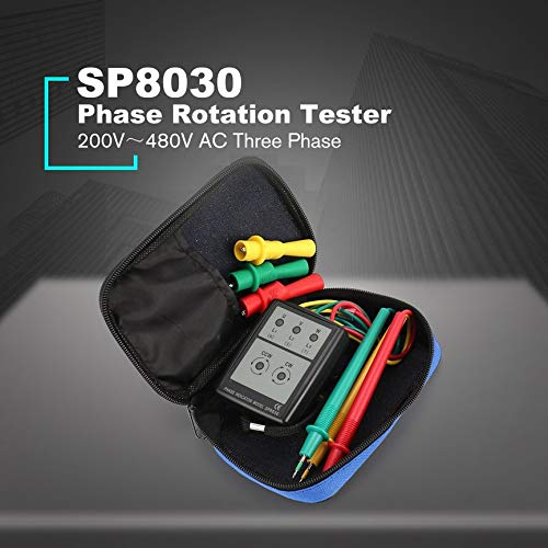 Schwarz VCB SP8030 3-Phasen-Drehrichtungsanzeiger Messger/ät-Detektor 200V-480V