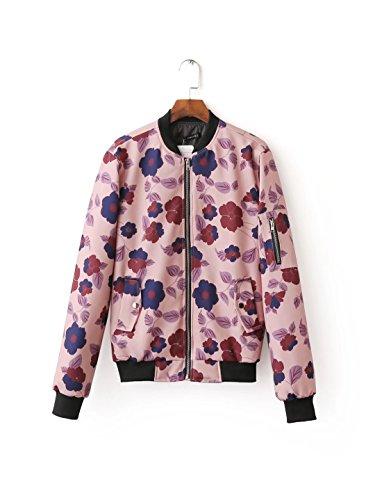 Lsm-Jacket Women's Regular Short Down Jacket Thickened Loose Cotton Coat Photo Color
