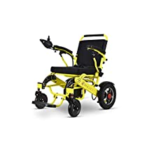 ComfyGO Best Rated Exclusive Deluxe Electric Wheelchair Motorized Fold Foldable Power Wheel Chair, Lightweight Folding Carry Electric Wheelchair, Powerful Dual Motor (Black)